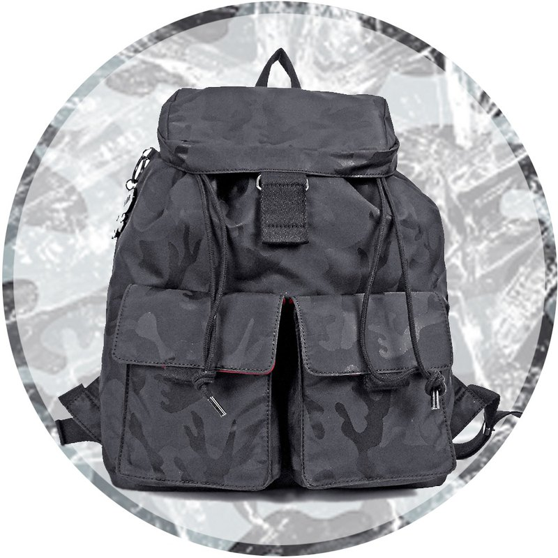 Free shipping I AM- S (small) beam back backpack - camouflage black