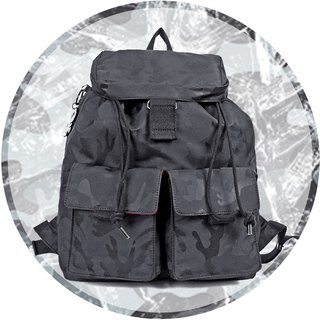 Free shipping I AM-HAMILTON S (small) beam mouth backpack - camouflage black