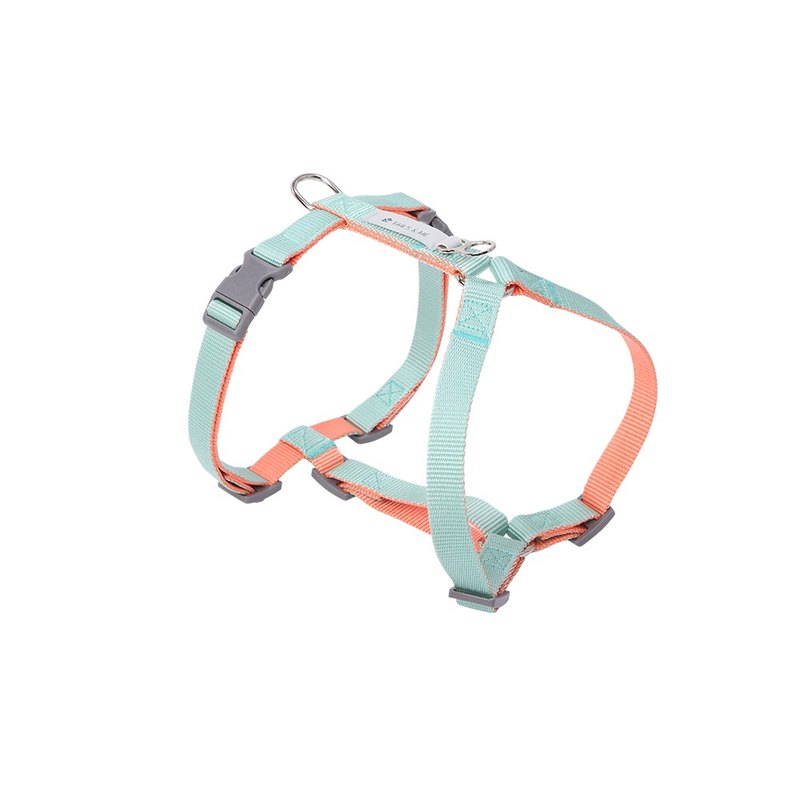 [Tail and Me] Classic Nylon Strap with Pink Tangerine / Mint