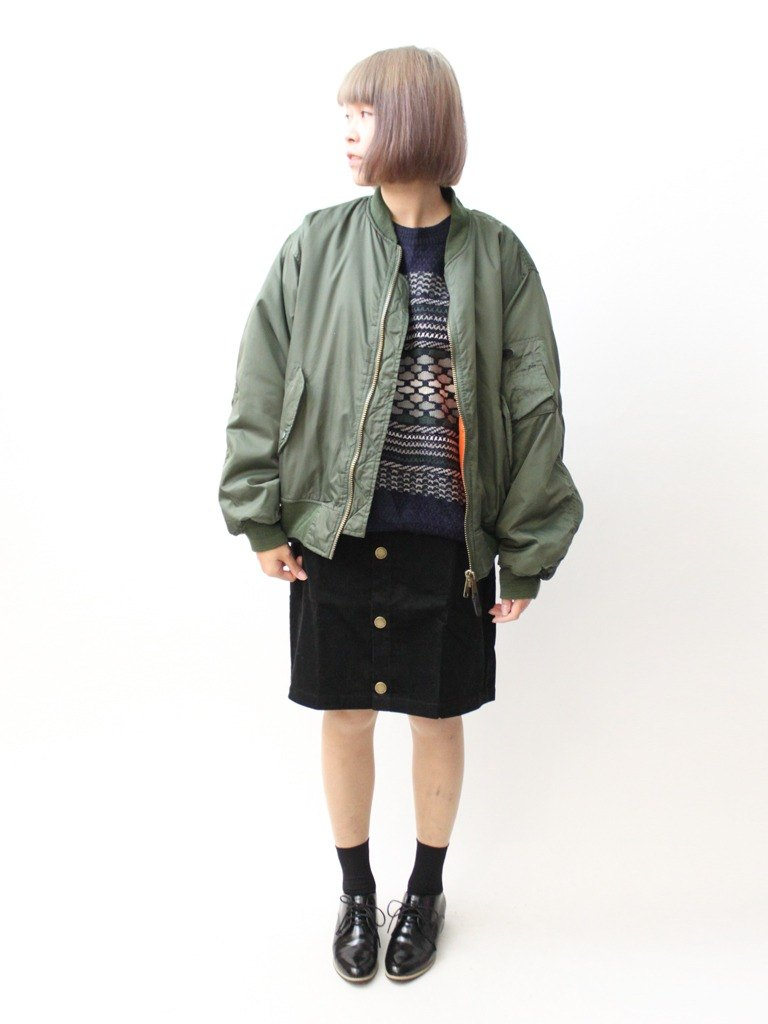 [Within] RE1229C400 military men and women in green orange neutral paragraph windbreaker jacket loose vintage MA