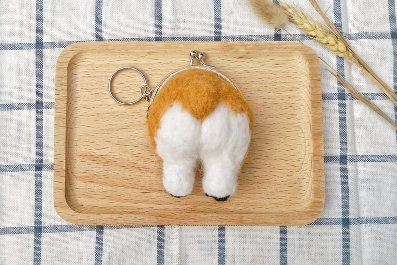Needle Felt Corgi Butt Coin Purse