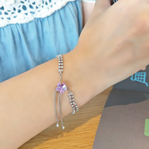 Flora Flora Bracelet Bracelet 7 Colors / Swarovski Crystal Elements