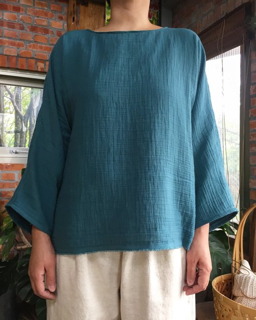 Soft double-sleeved wide-sleeved shirt