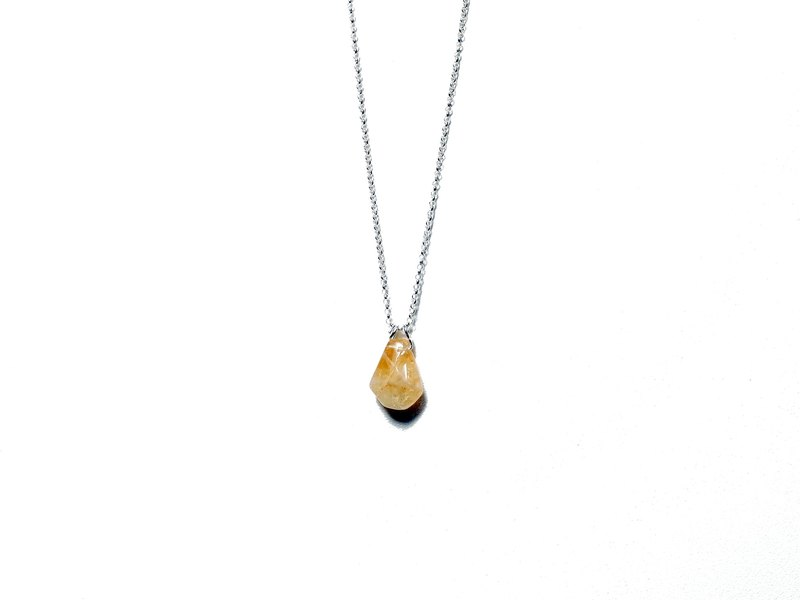 Silver925 Necklace , Citrine