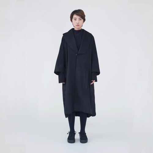 TRAN - Burr lapel coat