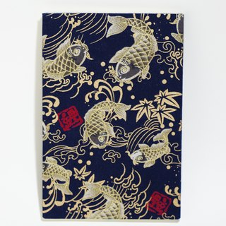 Cloth - Handmade Cloth Notebook - Wire Can Swing - Dark Carp Golden Carp (S)