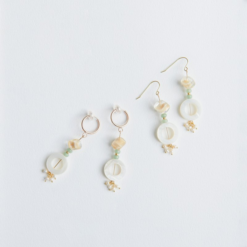 Earrings / 蜉蝣 物 (C) - Vintage Plankton Baby
