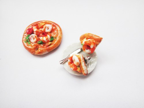 Earrings Seafood Pizza