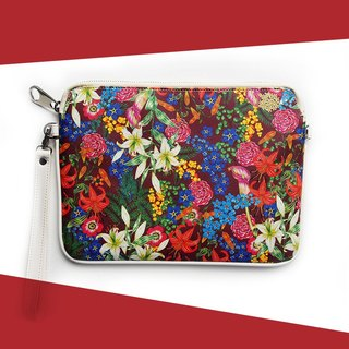 Red Flower Clutch (Small) - Love Flower Collection