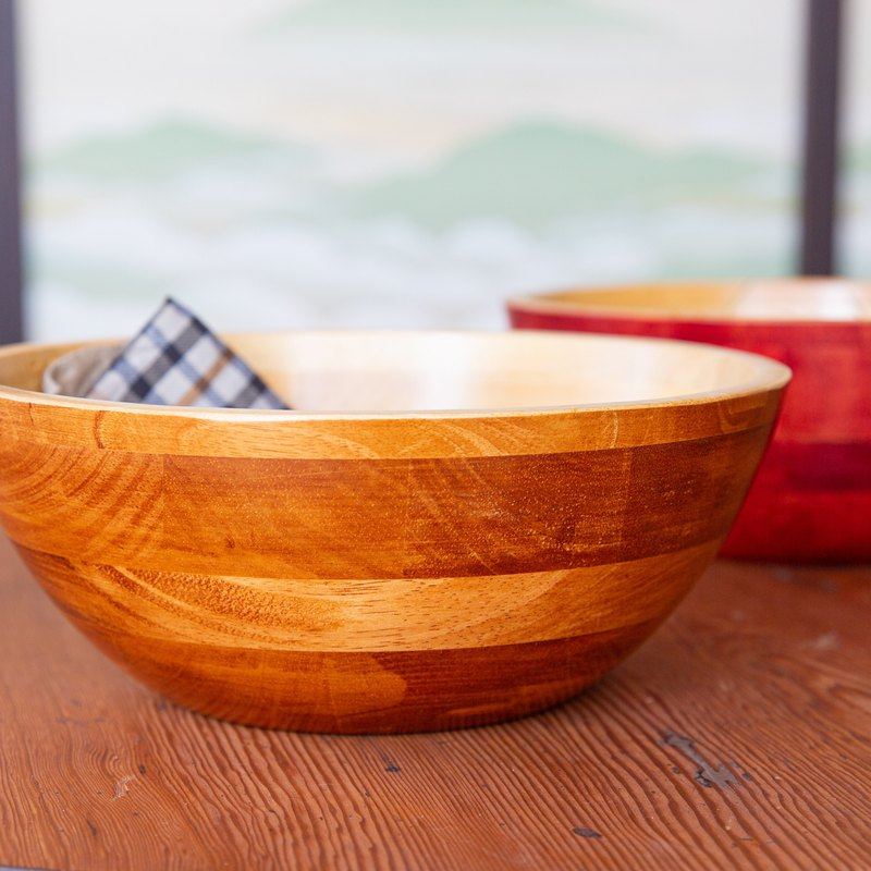 Handmade fruit salad bowl 2 into the free transport group wooden waterproof good practical