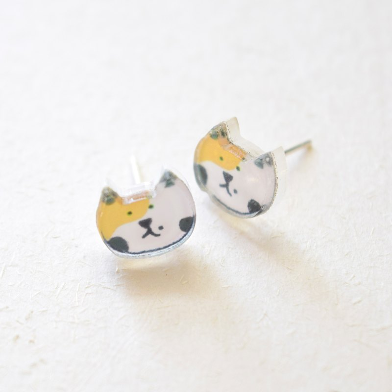 Cat Studs - Calico Cat Earrings - Little Earrings - Cute Earrings