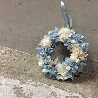 Flower mound | Preserved wreath - Great ocean blue straw daisy flower Preserved flowers immortalized dried flower hydrangea flower gift gifts home decorations Christmas gifts