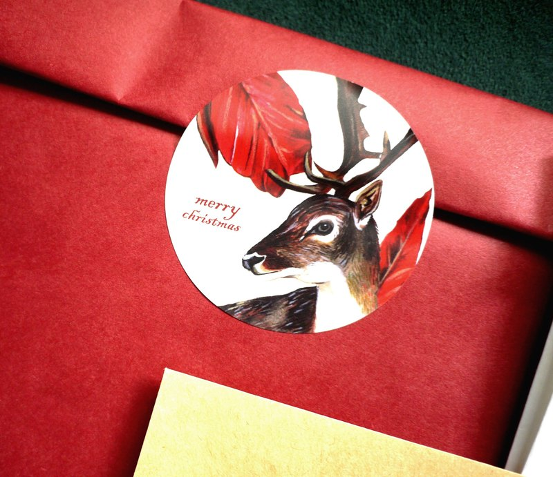 Christmas deer decoration stickers