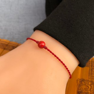 Taisui years (the birth year) cinnabar bracelet