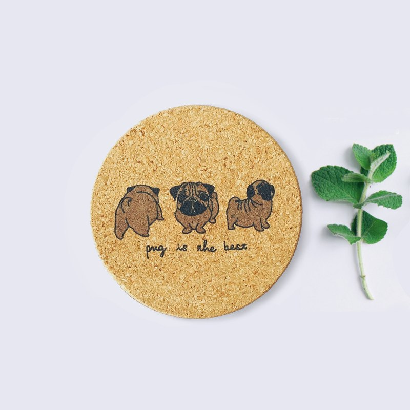 Beer Dogs | Eco-friendly hand-painted cork coasters