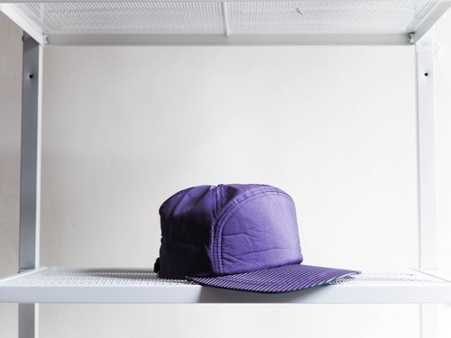 River Hill - Shimane Quilted purple taro sleepwalking small globe topped antique cut seven Benn baseball cap peaked cap / baseball cap