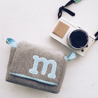 Hairmo Exclusive Letter Activity Buckles Zipper Style - 5 Water Blue Point + Dark Grey (Monocular / Single Eye)