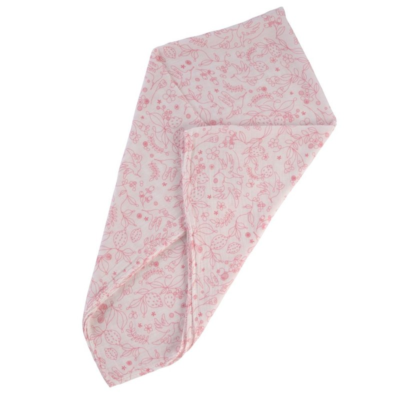 D BY DADWAY Japanese Made Gauze Towel - Pink Hummingbird