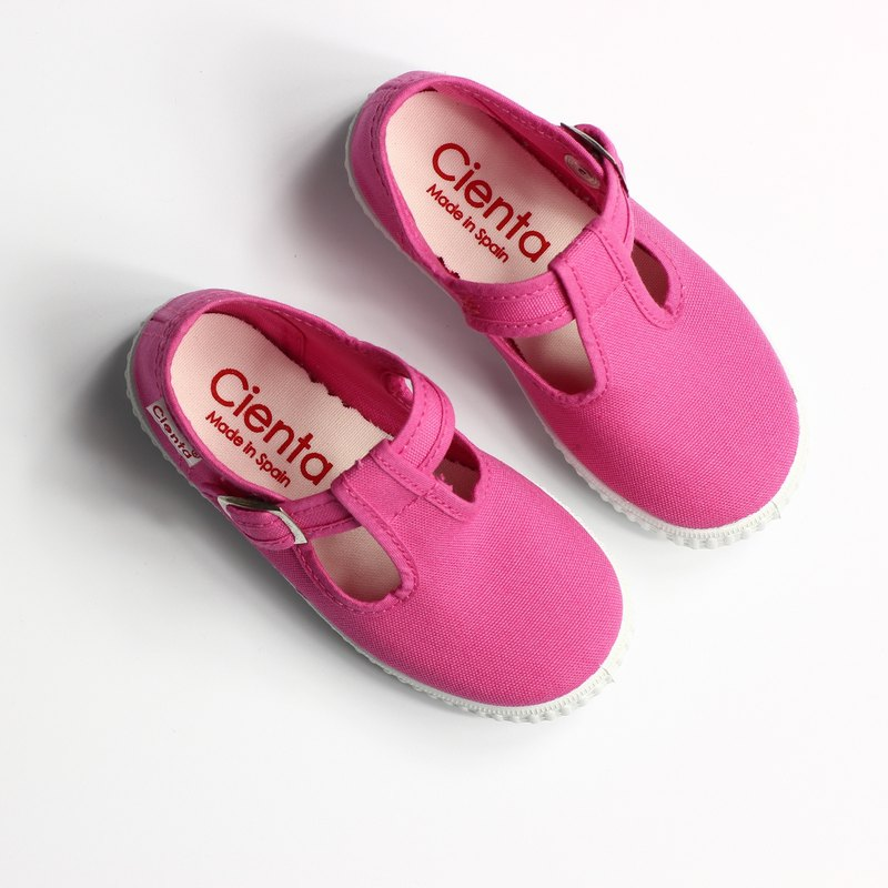Spanish national canvas shoes CIENTA 51000 12 pink children, children size