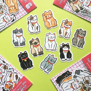 Cats are lucky cats/stickers