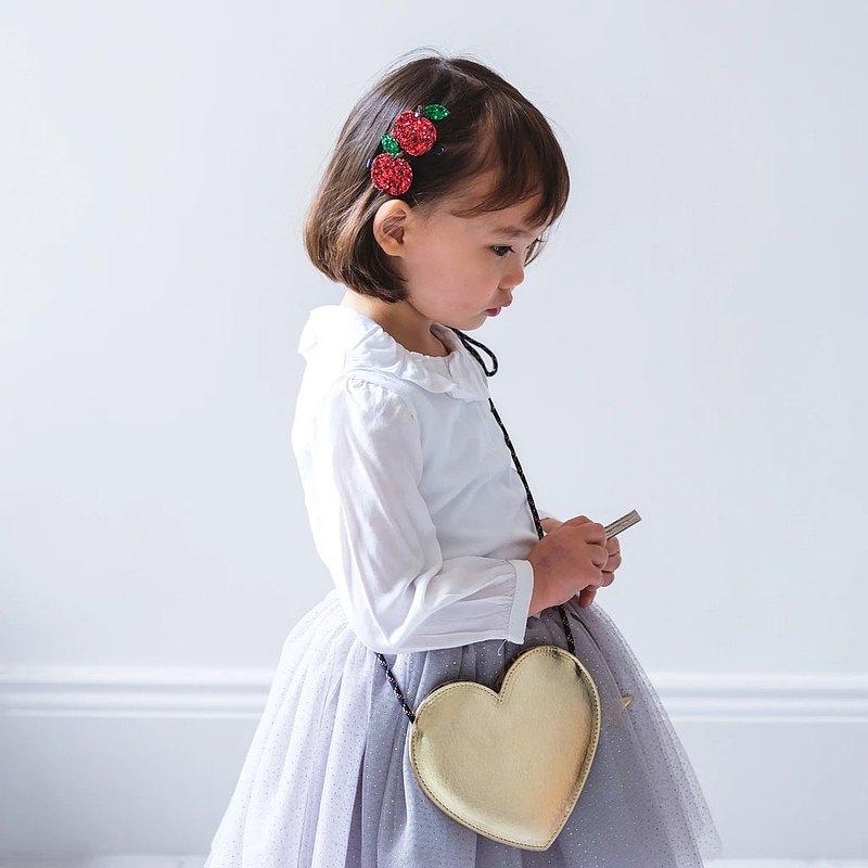 金色豹紋愛心小包 |【MIMI&LULA咪咪&露拉】英國兒童時尚俏皮配飾