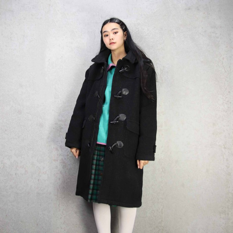 Tsubasa.Y ancient house A03 double-faced cashmere buckle coat, Duff coat coat long version