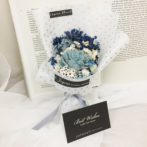 //Blur Buhler // Rock Series Blue Sun Rose Dry Handmade Bouquet