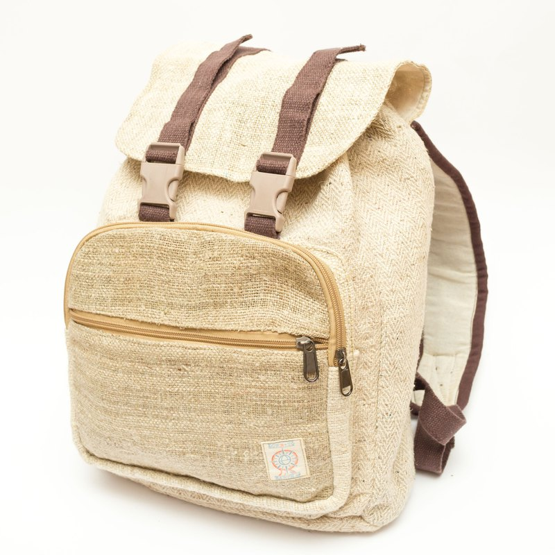 """Good2Go"" Hemp School Bag (Brown)"
