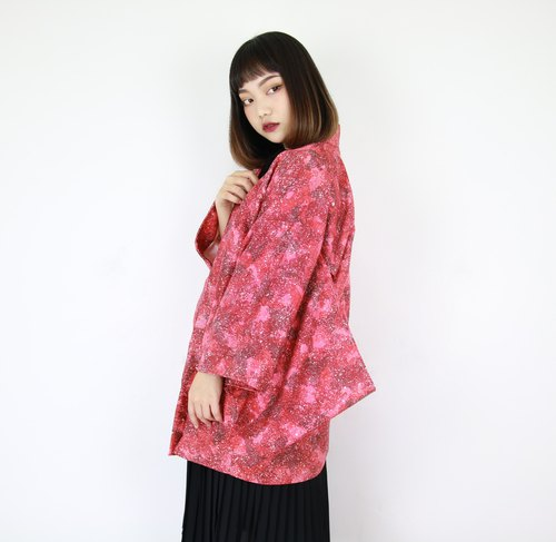 Back to Green: Japan brings back kimono kiwi fireworks to men and women // vintage kimono (KC-28)