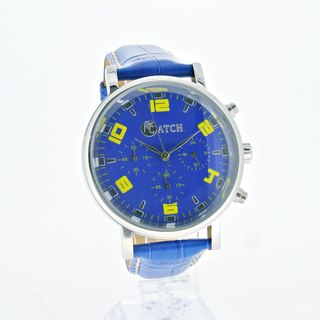 [CATCH] Fashion blue six-pins multi-function watch