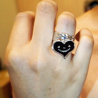 """Dream dream brand"" dream of metal jewelry series - black smile love ring"