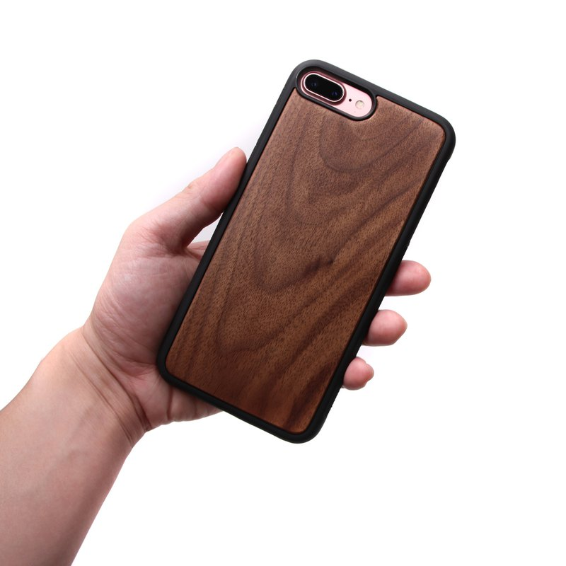 IPHONE 7/8 plus Solid Wood Phone Case - Walnut