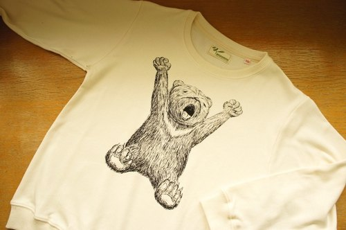 [Owl] organic cotton long sleeve thick T parent-child equipment (children's version)