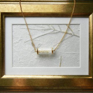 *coucoubird*white sky star test tube necklace - gold