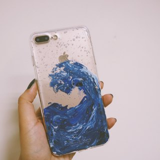 Spray ll hand-painted oil painting phone case
