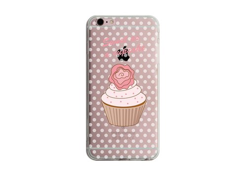 Custom sweet cupcakes (little roses) transparent Samsung S5 S6 S7 note4 note5 iPhone 5 5s 6 6s 6 plus 7 7 plus ASUS HTC m9 Sony LG g4 g5 v10 phone shell mobile phone sets phone shell phonecase