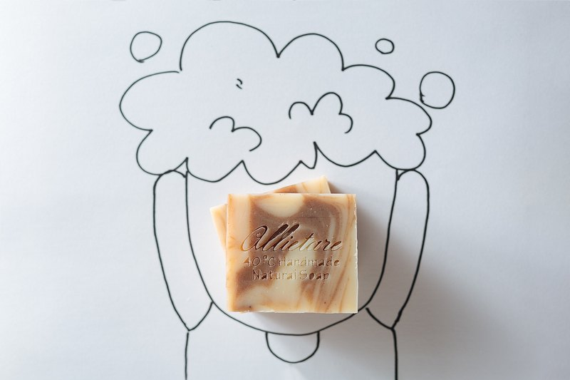 Allow scalp to breathe sheep milk soap cedar oil / fleece-flower root soap / scalp SPA / woody aroma. Bathing, shampooing