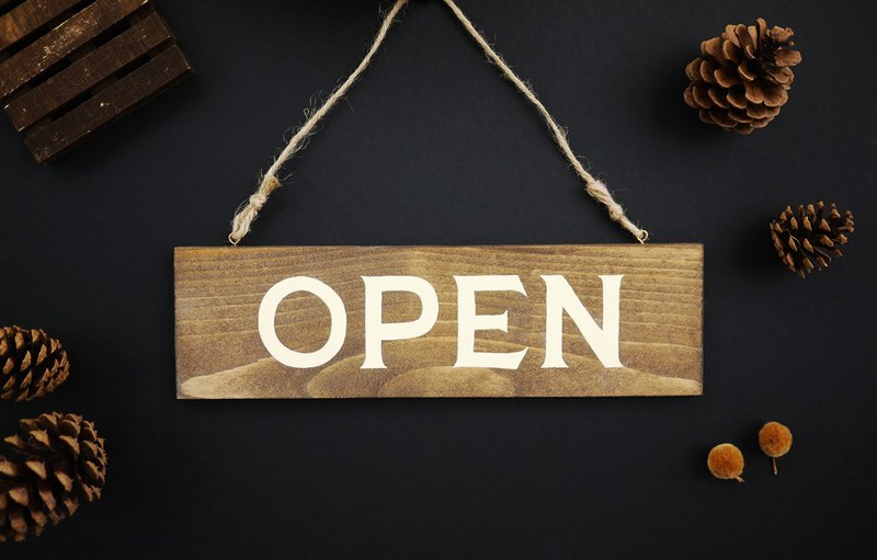 Open Closed Sign | Double Sided | Hand Painted Wooden Sign | Rustic Wood Sign