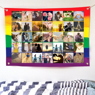 Customized Photo Hanging Cloth Rainbow Cloth