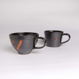 Black glaze with soil cup