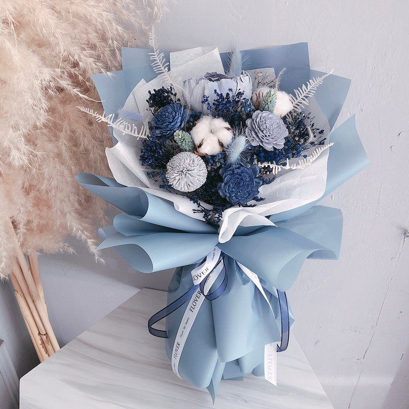 Prussian blue dry bouquet