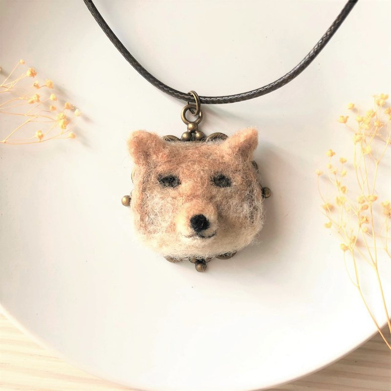 Disgusting Animal Necklace - High Refrigeration Fox Disgusting Tibetan Fox White Eye Necklace Keyring