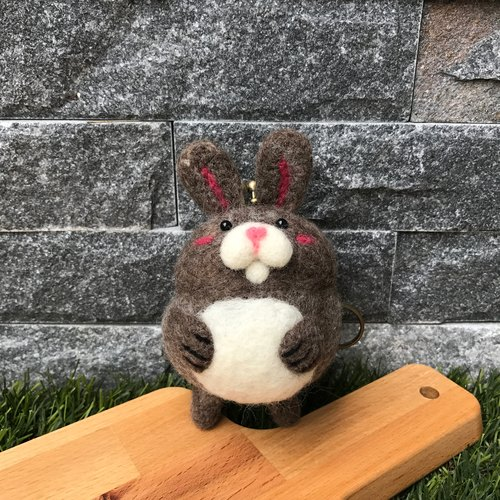 Rabbit**embracing series**wool felt mouth gold package