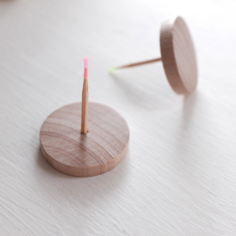 Handmade wooden candlestick wooden candle holder