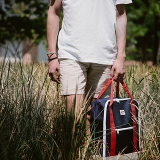 SUPER BACKPACK Navy / Beige / Red
