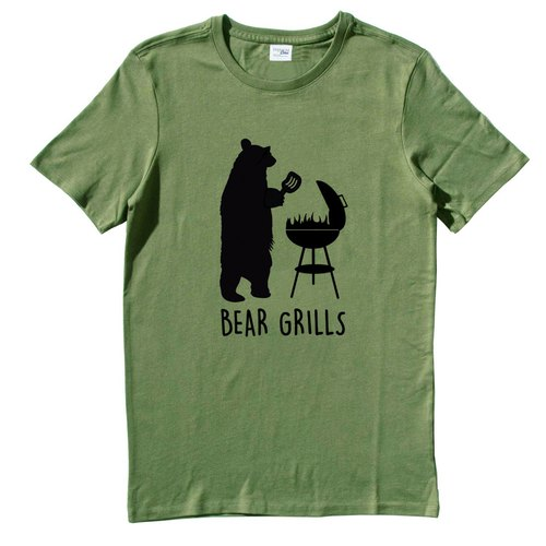 BEAR GRILLS ARMY GREEN T SHIRT