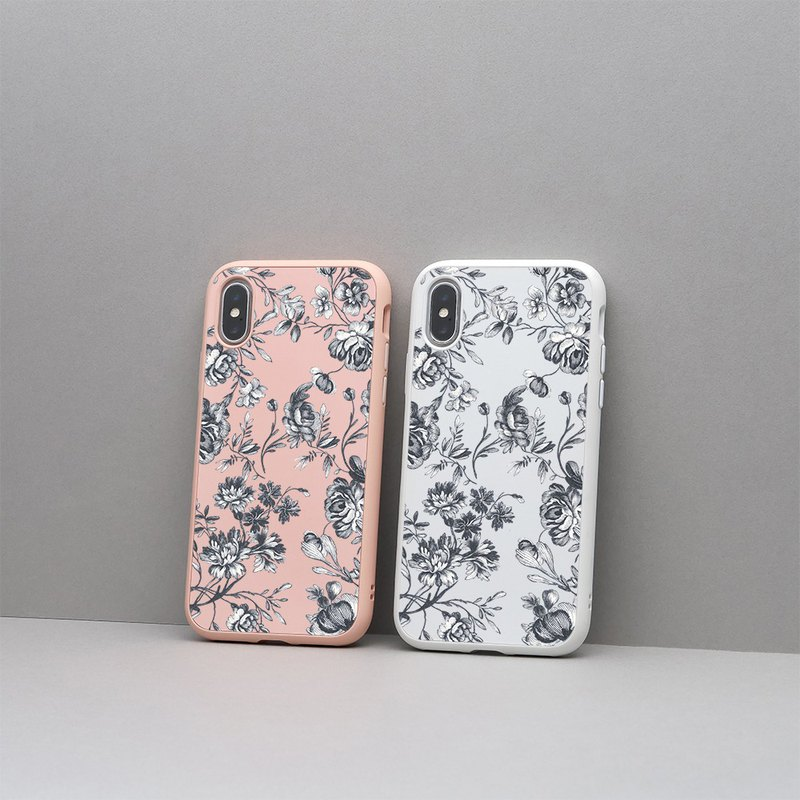 SolidSuit Classic Drop-proof Phone Case/Flower-Rafael Peony for iPhone