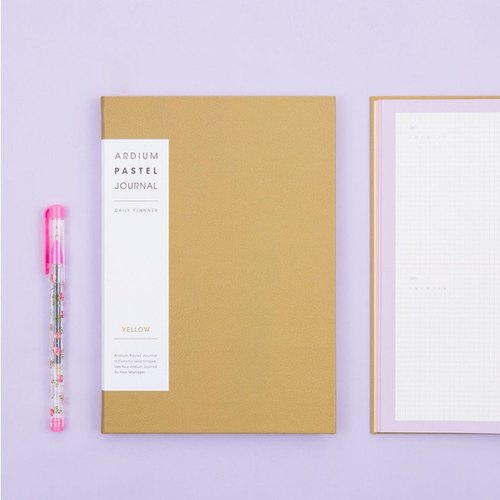 2018 ARDIUM PASTEL JOURNAL Calendar / Account - Yellow