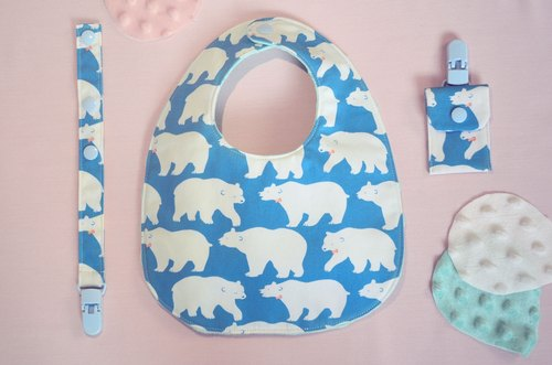Polar Bear - North Neck Button Bib Collection