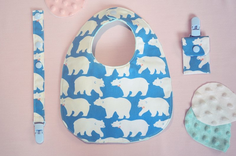 Polar Bear - North Napkin Bib Gift Set